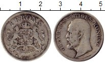 Изображение Монеты Швеция 1 крона 1906 Серебро VF