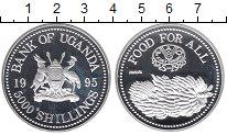 Изображение Монеты Уганда 5000 шиллингов 1995 Серебро Proof