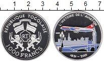 Изображение Монеты Того 1000 франков 2001 Серебро Proof