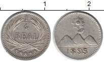 Изображение Монеты Гватемала 1/4 реала 1895 Серебро XF