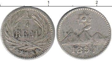 Картинка Монеты Гватемала 1/4 реала Серебро 1894