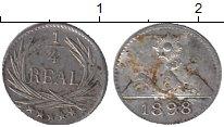 Изображение Монеты Гватемала 1/4 реала 1898 Серебро XF