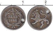 Изображение Монеты Гватемала 1/4 реала 1860 Серебро VF