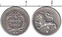 Изображение Монеты Гватемала 1/4 реала 1865 Серебро XF