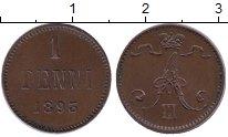 Изображение Монеты Россия 1881 – 1894 Александр III 1 пенни 1893 Медь XF