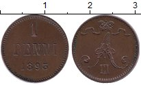 Изображение Монеты 1881 – 1894 Александр III 1 пенни 1893 Медь XF