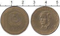 Изображение Монеты Доминиканская республика 1 песо 1997 Латунь XF