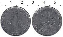 Изображение Монеты Ватикан 100 лир 1955 Медно-никель UNC-