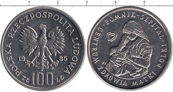Картинка Монеты Польша 100 злотых Медно-никель 1985