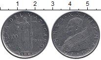 Изображение Монеты Ватикан 100 лир 1959 Медно-никель UNC-