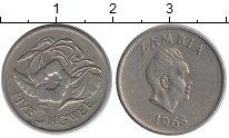 Изображение Монеты Замбия 5 нгвей 1968 Медно-никель XF