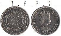 Изображение Монеты Белиз 25 центов 2007 Медно-никель XF