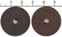 Изображение Монеты Великобритания Родезия 1 пенни 1952 Медь XF