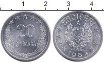 Изображение Монеты Албания 20 киндарка 1964 Алюминий UNC-