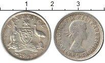 Изображение Монеты Австралия 6 пенсов 1962 Серебро XF