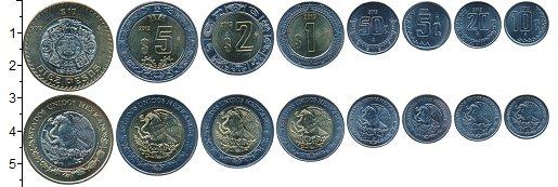 Изображение Наборы монет Мексика Мексика 2001-2013 0  UNC- В наборе 8 монет ном