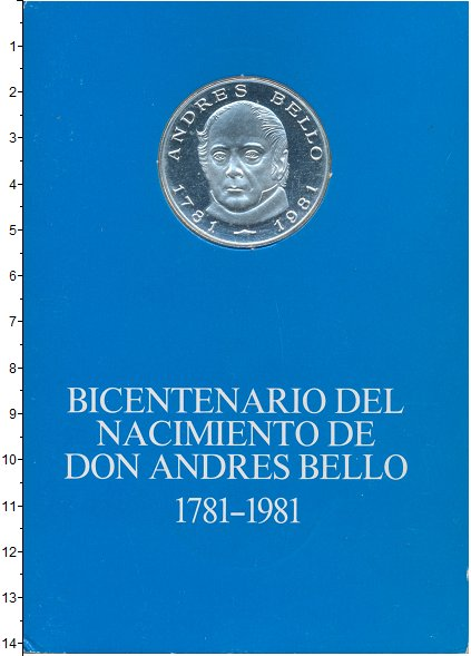 Изображение Подарочные монеты Венесуэла 100 боливар 1981 Серебро Proof 200 - летие Андреса