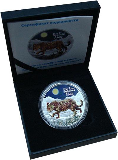 Изображение Подарочные монеты Конго 240 франков 2008 Серебро UNC Монета номиналом 240