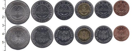 Изображение Наборы монет Боливия Боливия 2012-2017 0  UNC- В наборе 6 монет ном