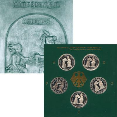 Изображение Подарочные наборы Германия Ахенский собор 2000 Серебро Proof