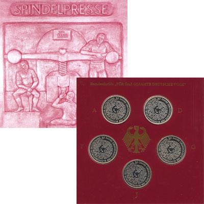 Изображение Подарочные монеты Германия 50-летие образования ФРГ 1999 Серебро Proof Федеративная Республ