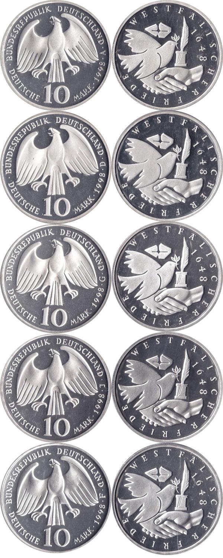 Картинка Подарочные наборы Германия Вестфальский мир Серебро 1998