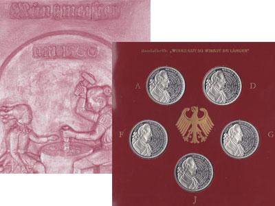 """Изображение Подарочные монеты Германия Иоганн Вольфганг Гёте 1999 Серебро Proof """"Набор посвящен одно"""