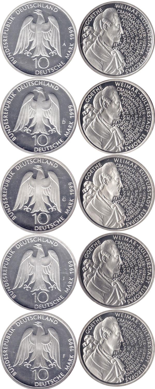 Картинка Подарочные наборы Германия Иоганн Вольфганг Гёте Серебро 1999