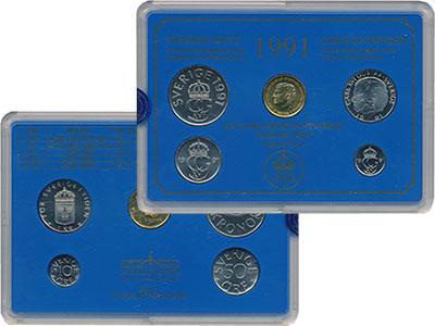 Изображение Подарочные монеты Швеция Набор монет 1991 года выпуска 1991  UNC Набор посвящён монет