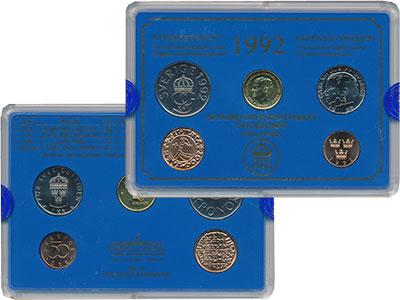 Изображение Подарочные монеты Швеция Набор 1992 года 1992  UNC Набор посвящён монет