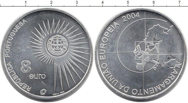 Картинка Монеты Португалия 8 евро Серебро 2004