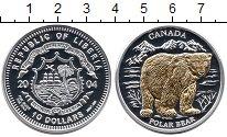 Изображение Монеты Либерия 10 долларов 2004 Серебро Proof