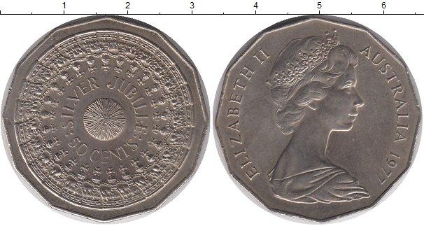 Картинка Мелочь Австралия 50 центов Медно-никель 1977