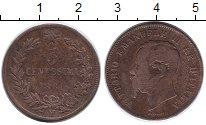 Изображение Монеты Италия 5 сентесим 1861 Бронза VF