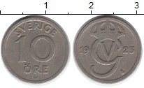 Изображение Монеты Швеция 10 эре 1923 Медно-никель XF