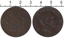 Изображение Монеты Испания 10 сентим 1879 Медь VF