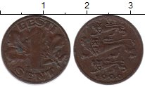 Изображение Монеты Эстония 1 сенти 1929 Бронза XF