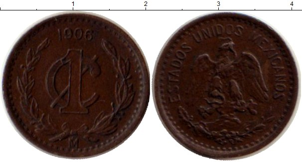Картинка Монеты Мексика 1 сентаво Бронза 1906