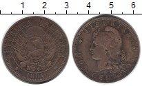 Изображение Монеты Аргентина 2 сентаво 1884 Бронза XF