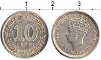 Изображение Монеты Великобритания Малайя 10 центов 1941 Серебро XF+