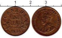 Изображение Монеты Канада 1 цент 1936 Бронза XF