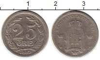 Изображение Монеты Швеция 25 эре 1883 Серебро VF