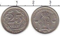 Изображение Монеты Швеция 25 эре 1905 Серебро XF
