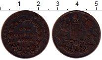 Изображение Монеты Индия 1/4 анны 1835 Медь XF-