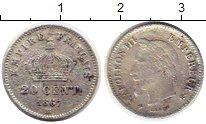 Изображение Монеты Франция 20 сантим 1867 Серебро VF