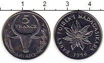 Изображение Мелочь Мадагаскар 5 франков 1996 Медно-никель UNC-