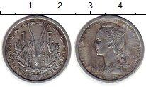 Изображение Монеты Франция Французская Экваториальная Африка 1 франк 1948 Алюминий XF-