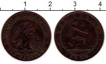 Изображение Монеты Испания 2 сентима 1870 Медь XF