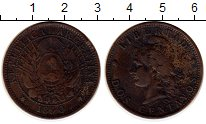 Изображение Монеты Аргентина 2 сентаво 1890 Бронза VF
