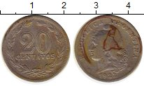 Изображение Монеты Аргентина 20 сентаво 1922 Медно-никель VF